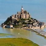 Mont-St-Michel za přílivu