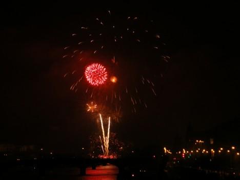 Prague Fireworks on Jan 1, 2012 (2/6)